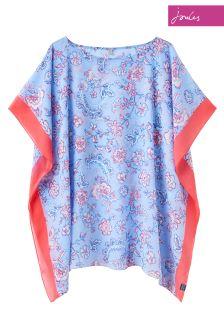 Joules Blue Floral Rosanna Cover Up