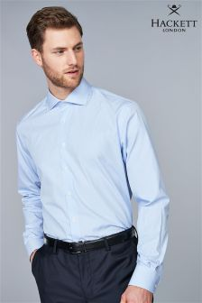 Hackett White/Blue Fine Stripe Business Shirt