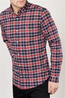 koszula z długim rękawem w kratę