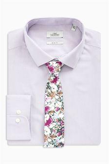 Zestaw dopasowana koszula i krawat