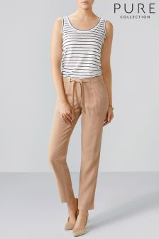 Pure Collection Natural Pocketed Tapered Trouser