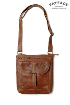 FatFace Chestnut Lily Rich Grain Cross Body Bag