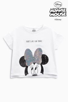 Minnie Mouse™ Flippy Sequin Short Sleeve T-Shirt (3-16yrs)