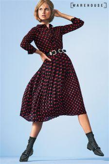Warehouse Black/Red Spot Skirt
