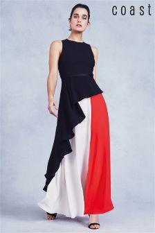 Платье макси в стиле цветных блоков Coast Piper