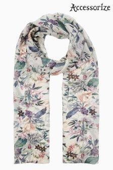 Классический кремовый шарф с цифровым цветочным рисунком Accessorize