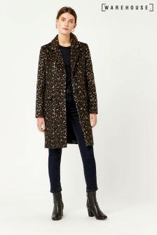 Warehouse Brown Animal Coat