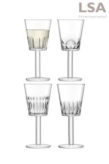 Set of 4 LSA International Tatra Wine Glasses