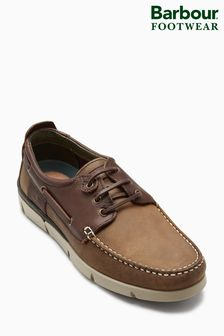 Barbour® Beige/Brown George Boat Shoe
