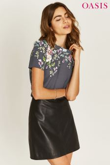 Oasis Grey Adria Placement Tee