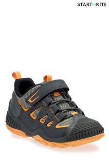 Szaro-pomarańczowe buty do szkoły podstawowej Start-Rite Charge