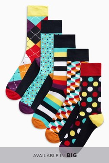 Geometric Designs Socks Five Pack