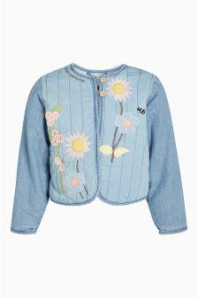 Куртка из ткани шамбре с аппликацией (3 мес.-6 лет)