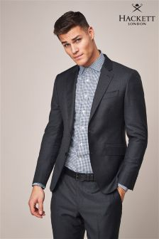 Hackett Grey Sharkskin Texture Jacket