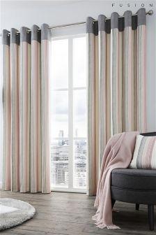 Fusion Rydell Blush Stripe Curtains