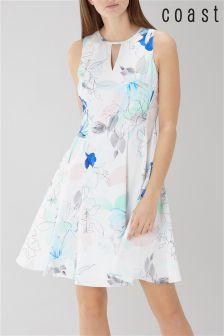 Coast White Mischka Print Cotton Dress