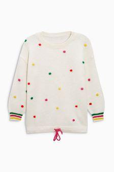 Multicolour Pom Pom Sweater