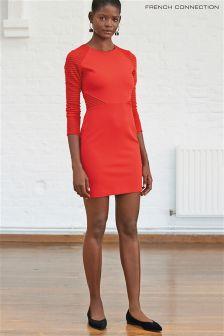 Czerwona sukienka tuba z dżerseju French Connection Thiestis