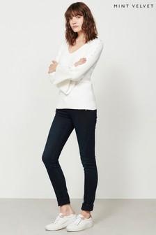 Mint Velvet Blue Phoenix Biker Skinny Jeans