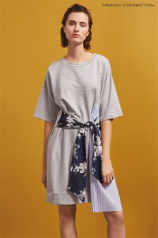 French Connection Grey T-Shirt Dress