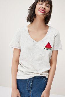 Valentine Embroidered T-Shirt