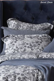Secret Linen Company Roses Pillowcase