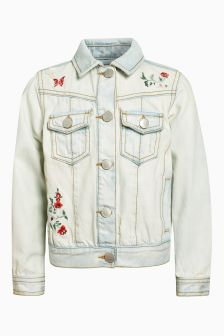 Embroidered Flower Jacket (3-16yrs)