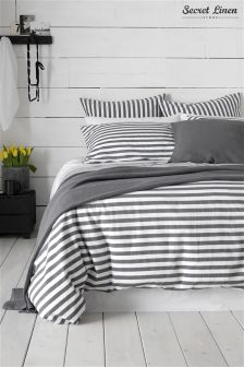 Secret Linen Company Coastal Stripe Duvet Cover