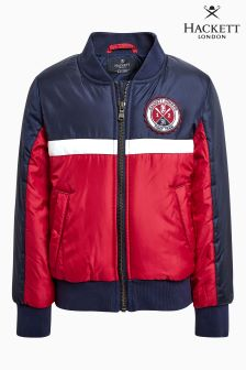 Темно-синяя/красная спортивная куртка-бомбер Hackett