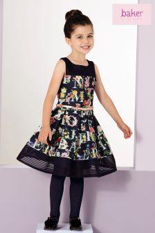 Baker By Ted Baker Navy Toddler Scuba Dress