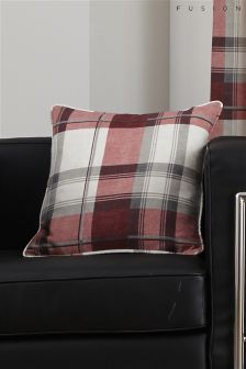 Fusion Balmoral Red Check Cushion