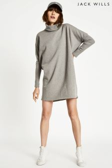 Jack Wills Grey Marl Murpay Roll Neck Tunic