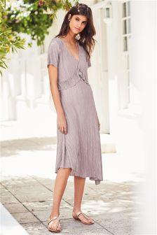 Jersey Ruffle Midi Dress
