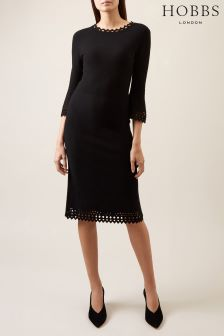 Hobbs Black Myra Dress