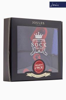 Zestaw podarunkowy: skarpety ze wzorem oraz bielizna firmy Joules