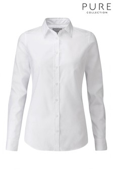 Pure Collection White Cotton Shirt