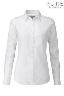 Белая хлопчатобумажная рубашка Pure Collection