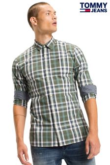 Tommy Jeans Green Basic Check Shirt