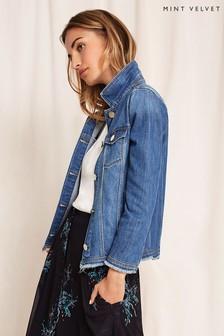 Mint Velvet Blue Denim Western Jacket