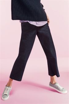 Tailored Wide Leg Crop Jeans
