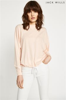 Jack Wills Rose Langhouse Drawstring Hem T-Shirt