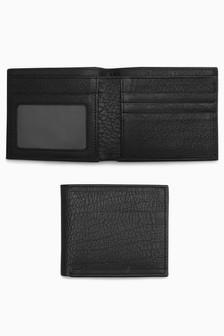Кожаный бумажник двойного сложения