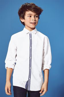 Long Sleeve Tape Detail Shirt (3-16yrs)
