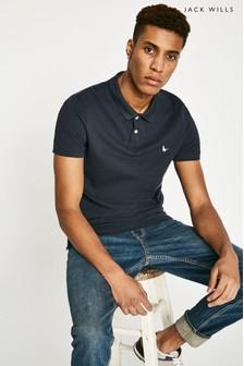 Jack Wills Navy Aldgrove Poloshirt