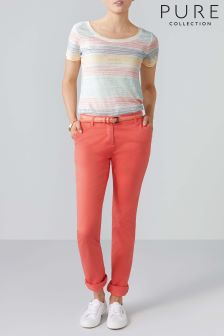 Pure Collection Orange Washed Cotton Chino