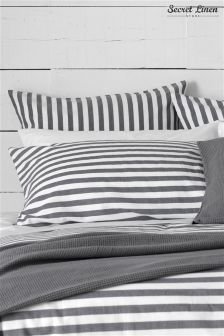 Secret Linen Company Coastal Stripe Pillowcase