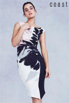 Разноцветное неопреновое цельнокройное платье Coast Drake