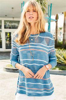 Stitchy Stripe Sweater