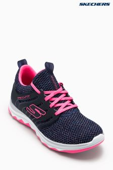 Skechers® Blue Diamond Runner Sparkle Sprints Sparkle Knit Shoe