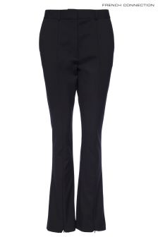 French Connection Black Glass Stretch Trouser